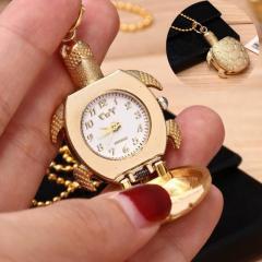 Бронзовые кварцевые карманные часы-(Черепашка).