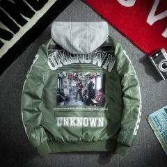 Мужская куртка в стиле хип-хоп 3 цветов