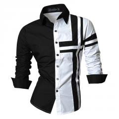 Мужская рубашка в черно-белых тонах