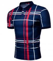 Брендовая мужская хлопковая рубашка поло для спорта.