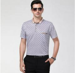 Брендовая летняя мужская рубашка с короткими рукавами високого качества