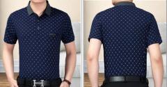 Брендовая летняя мужская рубашка поло с короткими рукаами в клеточку