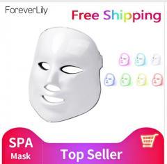 Светодиодная женская маска для лица 7 цветов.