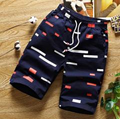 Летние хлопковые мужские шорты кэжуал Бермуды.