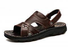 Модные мужские сандали из кожи.