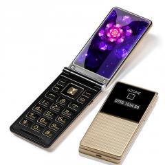 Мобильного телефона с двойным дисплеем для слабовидящих людей.