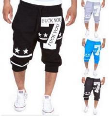 Летние мужские стильные шорты для спорта с цифой 7