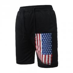 Летние мужские повседневные стильные шорты с флагом США.
