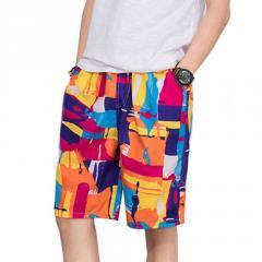 Летние мужские повседневные стильные шорты с красивой расцветкой