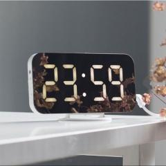 Будильник с зеркалом цифровые светодиодные часы