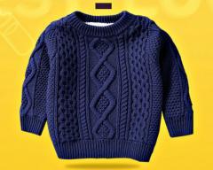 Теплый. вязаный свитер для маленьких...