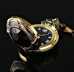 Мужские золотые карманные часы-(злой Дракон)