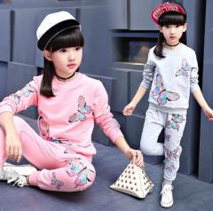 Весенне-осенний спортивный комплект одежды для девочек