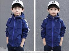 Весеняя куртка для мальчиков с полосками