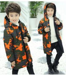 Детская зимняя теплая куртка с капюшоном...