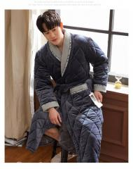 Мужские (зимние) трехслойные хлопковые толстые халаты