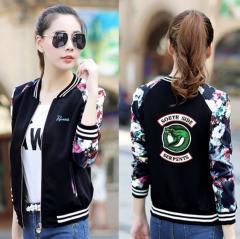 2019 Дизайнерская женская куртка c цветочками
