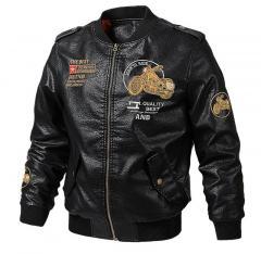 Брендовая осенне-зимняя мужская куртка-бомбер