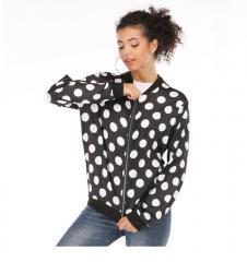 2019 Дизайнерская женская куртка в горошек