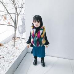 Эксклюзивный, роскошный жилет для девочек с разноцветным искуственным мехом