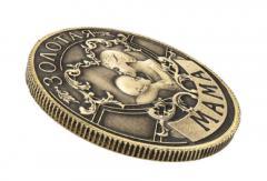 Антиквариатная монета с надписью-золотая мама