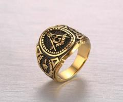 Вентажное мужское кольцопечаткас нержавеющей стали
