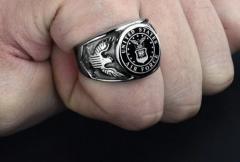 Винтажное кольцо США милитари длявоеных.