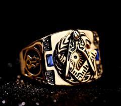 Большое мужское винатжное кольцо с нержавеющей стали.
