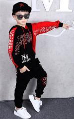 Детский костюм для танцев из двух частей в стиле хип-хоп.