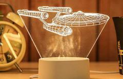 Акриловый ночной свитильник с 3D моделями