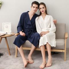 Мужской хлопковой ночной халат мужская пижама