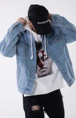 Мужская осенняя джинсовая куртка