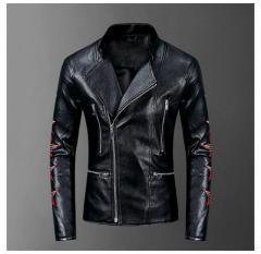 Байкерский мужской стиль pu кожаные куртки