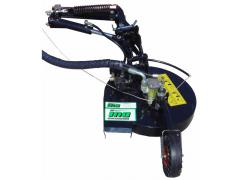The rotary rotor mower with the hydraulic actuator