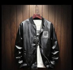 Lenstid, мужская, кожаная куртка, бейсбольная куртка