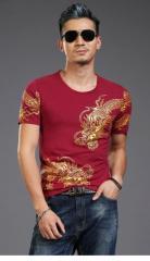 Bronzing 3d Dragon Totem, новинка футболка с принтом