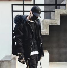 Мужская парка с капюшоном в стиле хип-хоп