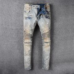 Модные мужские джинсы в ретро стиле