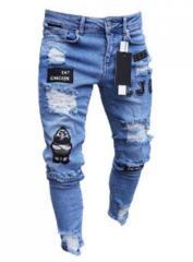 Модные мужски джинсы с красивимы нашивкамы