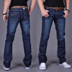 Классические мужские джинсы прямые с молниями