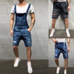 Модные мужские джинсовые комбинезоны больших размеров