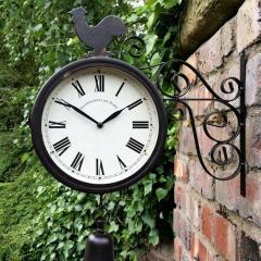 Наружные садовые настенные часы с двусторонним
