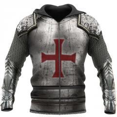 Knights Templar/толстовки с 3D принтом для мужчин