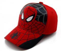 Детская модная кепка для мальчиков с человеком-пауком