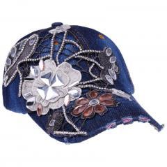 BINGYUANHAOXUAN, женская кепка со стразами