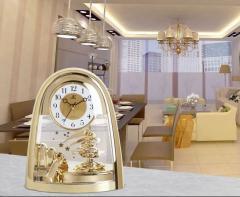 Брендовые настольные часы , бесшумные часы с секундомером, вращающиеся на 360 градусов.