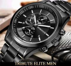 Cтальные мужские водонепроницаемые наручные часы