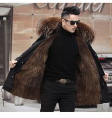 LaVelache мужские куртки, натуральный Лисий мех, мех енота