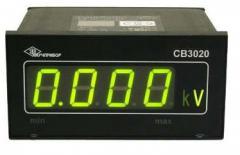 Voltmeter of alternating current voltage CB3020