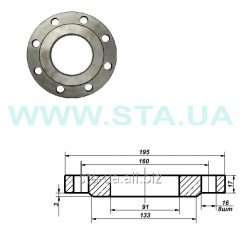 Flanges Du of 80 mm of Ru10, steel to pipes
